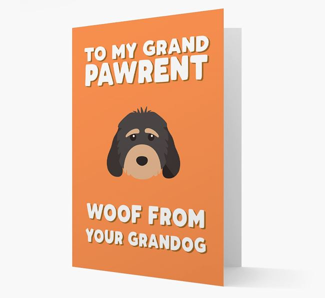 'To My Grandpawrent' - Personalized Cockapoo Card