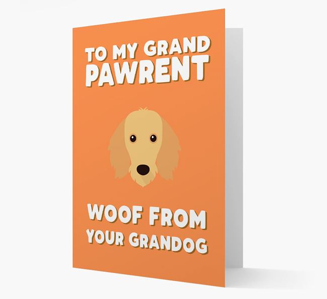 'To My Grandpawrent' - Personalised Dachshund Card