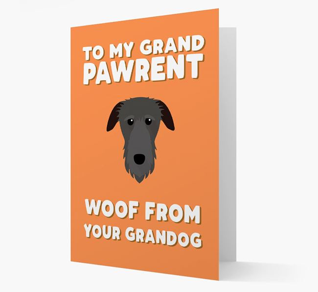 'To My Grandpawrent' - Personalized Deerhound Card