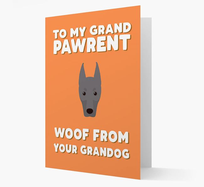 'To My Grandpawrent' - Personalized Dobermann Card