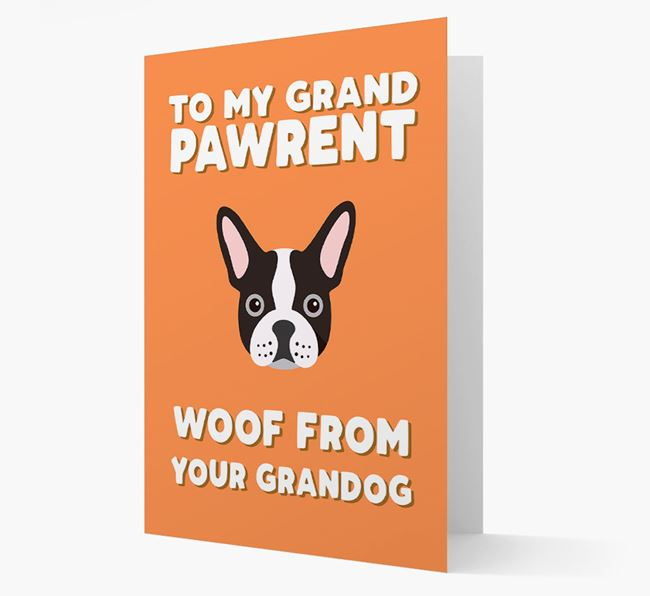 'To My Grandpawrent' - Personalized French Bulldog Card