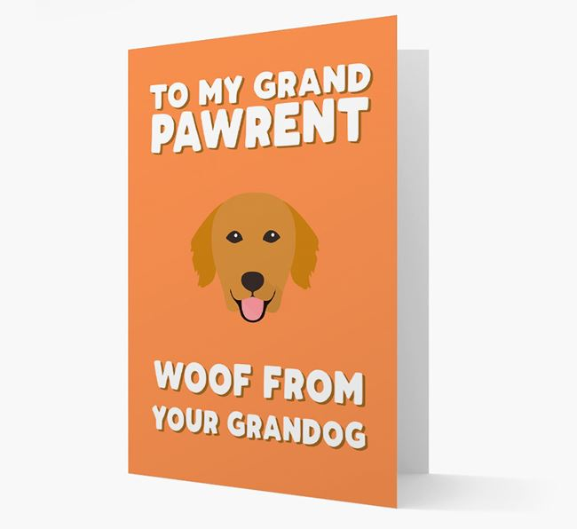 'To My Grandpawrent' - Personalised Golden Retriever Card