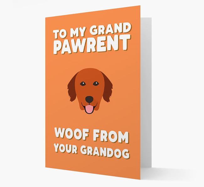 'To My Grandpawrent' - Personalized Golden Retriever Card