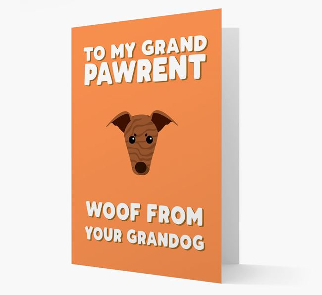 'To My Grandpawrent' - Personalised Greyhound Card