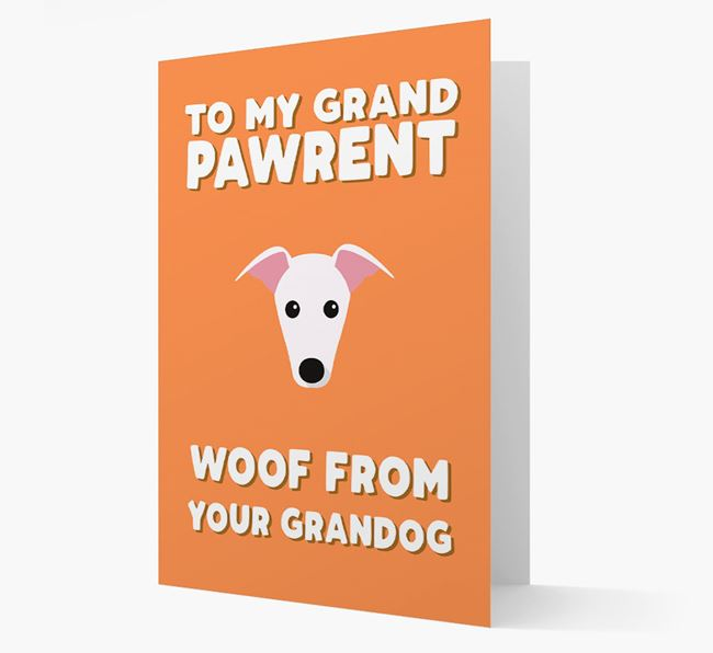 'To My Grandpawrent' - Personalized Greyhound Card