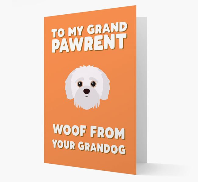 'To My Grandpawrent' - Personalized Jack-A-Poo Card