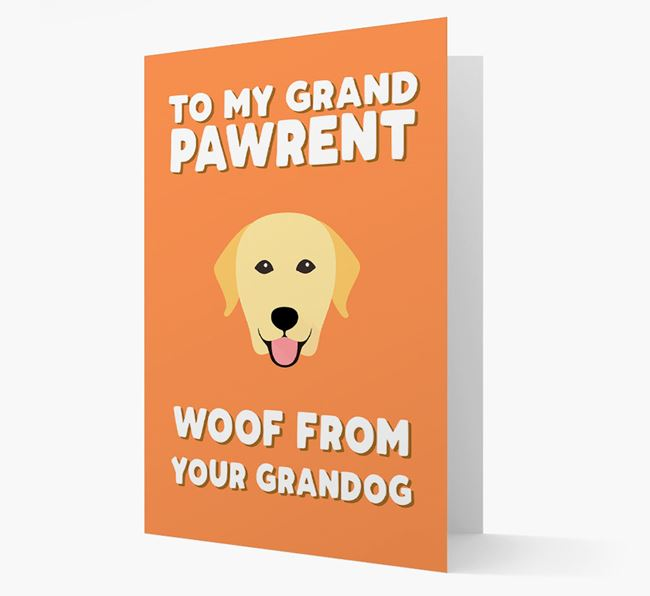 'To My Grandpawrent' - Personalized Dog Card