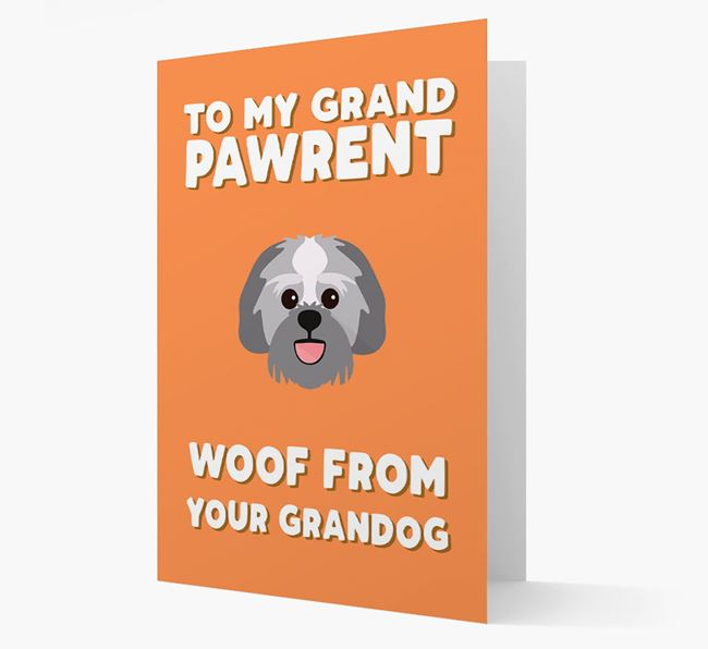 'To My Grandpawrent' - Personalized Lachon Card