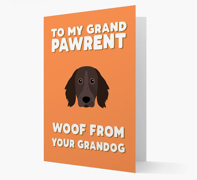 'To My Grandpawrent' - Personalized Large Munsterlander Card