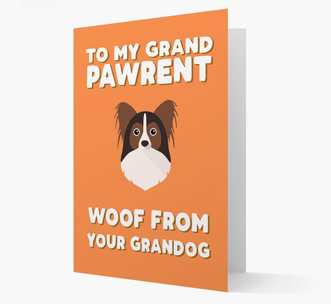 'To My Grandpawrent' - Personalized Papillon Card