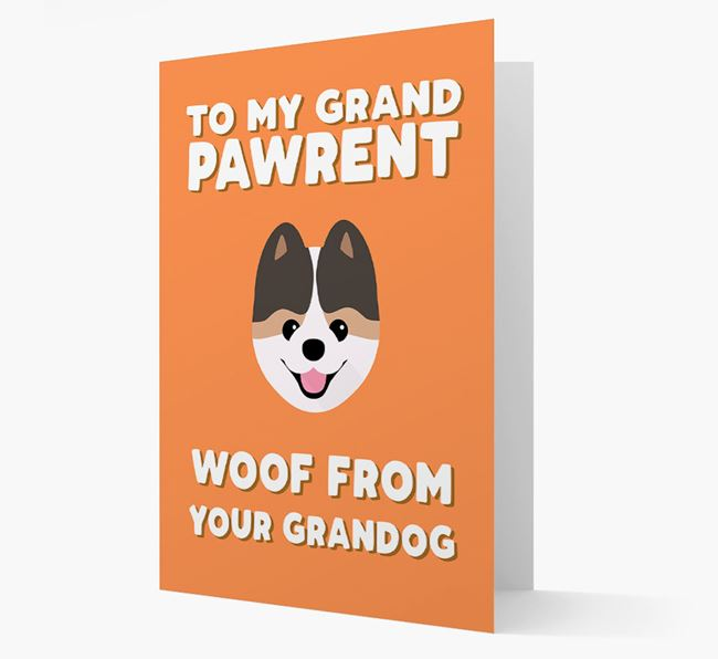 'To My Grandpawrent' - Personalised Pomeranian Card