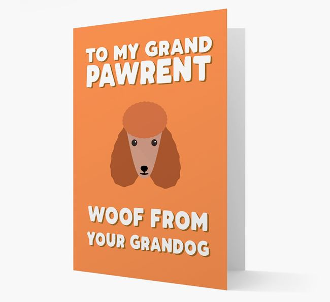 'To My Grandpawrent' - Personalised Poodle Card