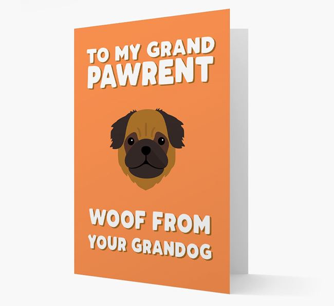 'To My Grandpawrent' - Personalized Pug Card