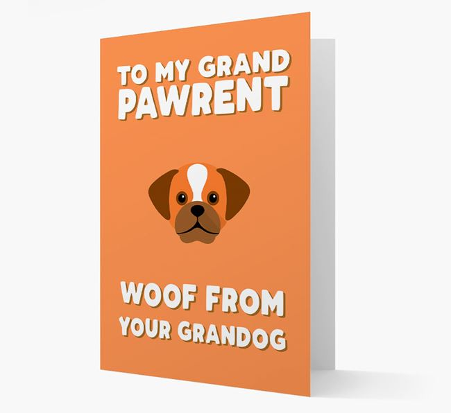 'To My Grandpawrent' - Personalized Puggle Card