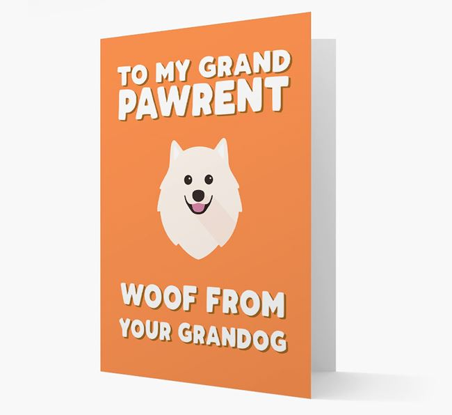 'To My Grandpawrent' - Personalized Samoyed Card