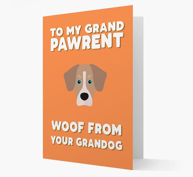 'To My Grandpawrent' - Personalized Siberian Cocker Card