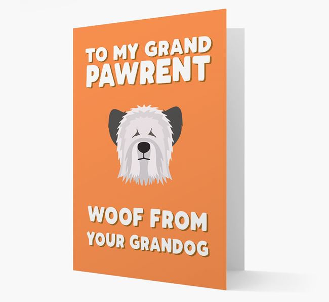 'To My Grandpawrent' - Personalized Skye Terrier Card