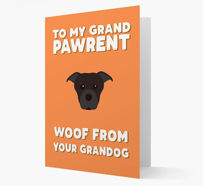 'To My Grandpawrent' - Personalised Dog Card