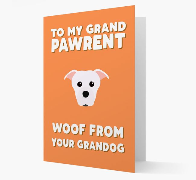 'To My Grandpawrent' - Personalized Staffordshire Bull Terrier Card