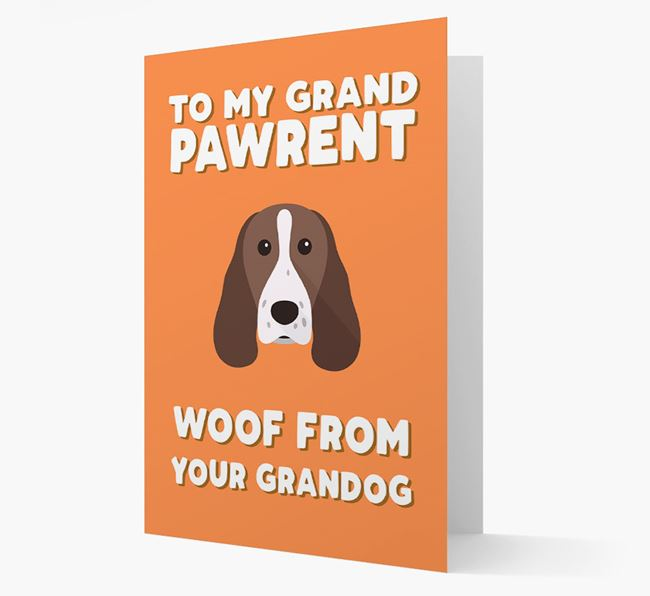 'To My Grandpawrent' - Personalized Welsh Springer Spaniel Card