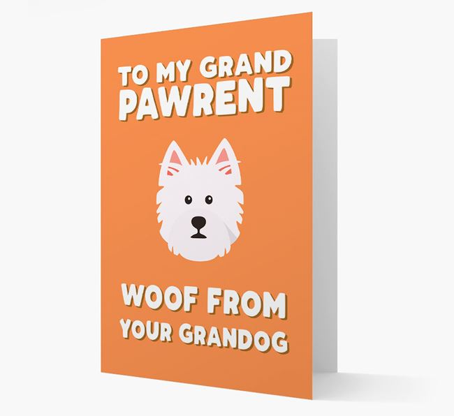 'To My Grandpawrent' - Personalized West Highland White Terrier Card