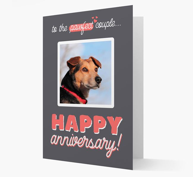 'To The Pawfect Couple...' - Personalized Alaskan Klee Kai Card