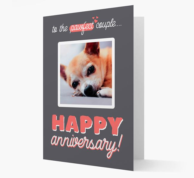 'To The Pawfect Couple...' - Personalised Chihuahua Card