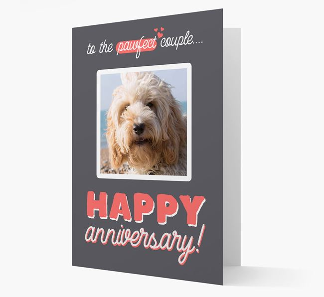 'To The Pawfect Couple...' - Personalised Cockapoo Card