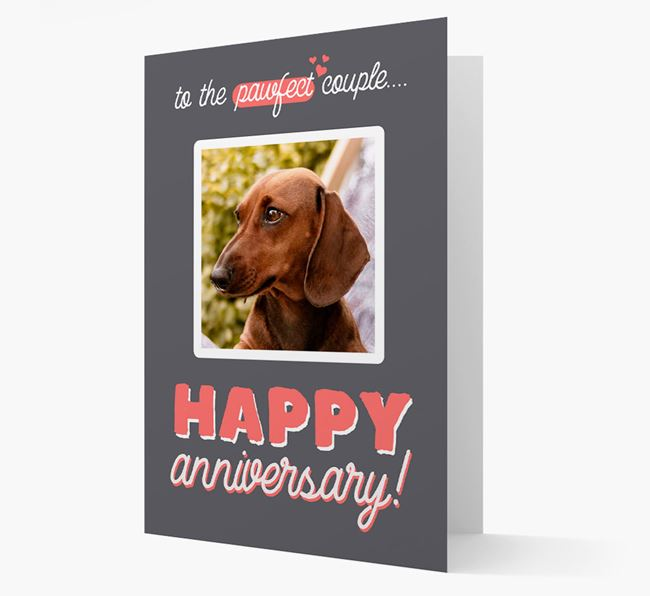 'To The Pawfect Couple...' - Personalised Dachshund Card