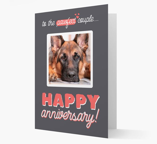 'To The Pawfect Couple...' - Personalised German Shepherd Card