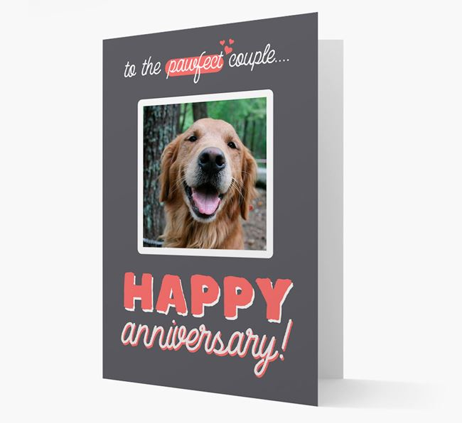 'To The Pawfect Couple...' - Personalised Golden Retriever Card