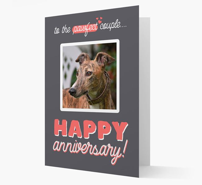 'To The Pawfect Couple...' - Personalised Greyhound Card