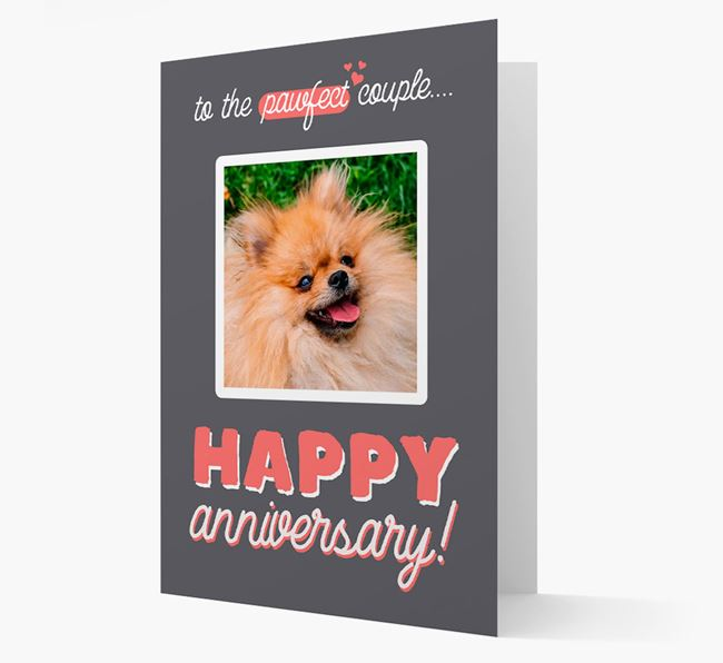 'To The Pawfect Couple...' - Personalised Pomeranian Card