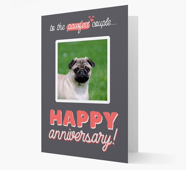 'To The Pawfect Couple...' - Personalised Pug Card