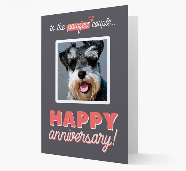 'To The Pawfect Couple...' - Personalised Schnauzer Card