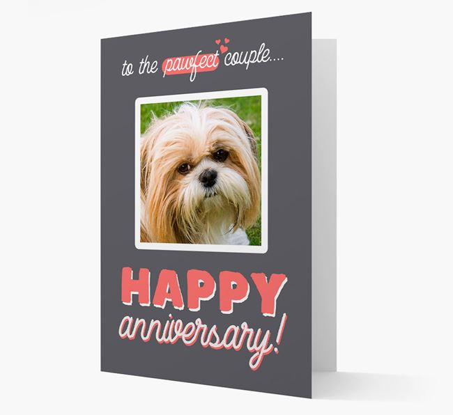 'To The Pawfect Couple...' - Personalised Shih Tzu Card
