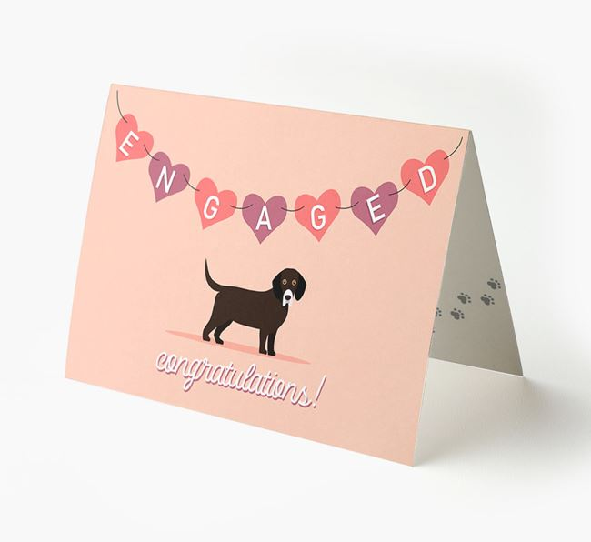 'Engaged' - Personalized Bassador Card