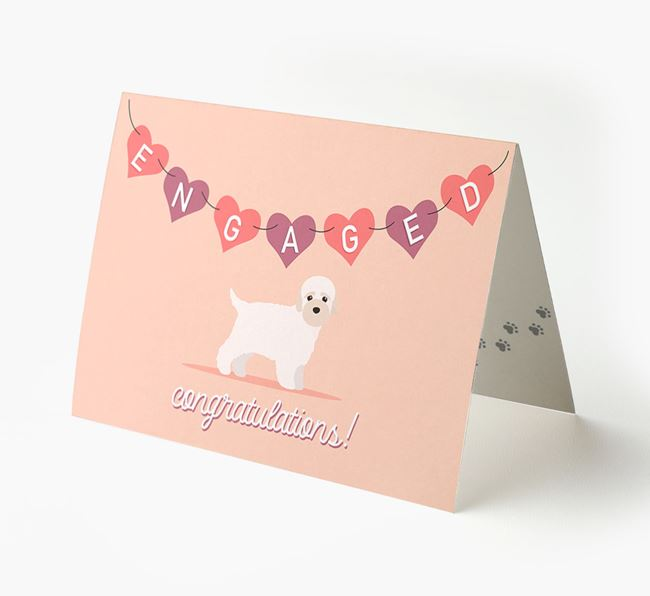 'Engaged' - Personalized Bich-poo Card