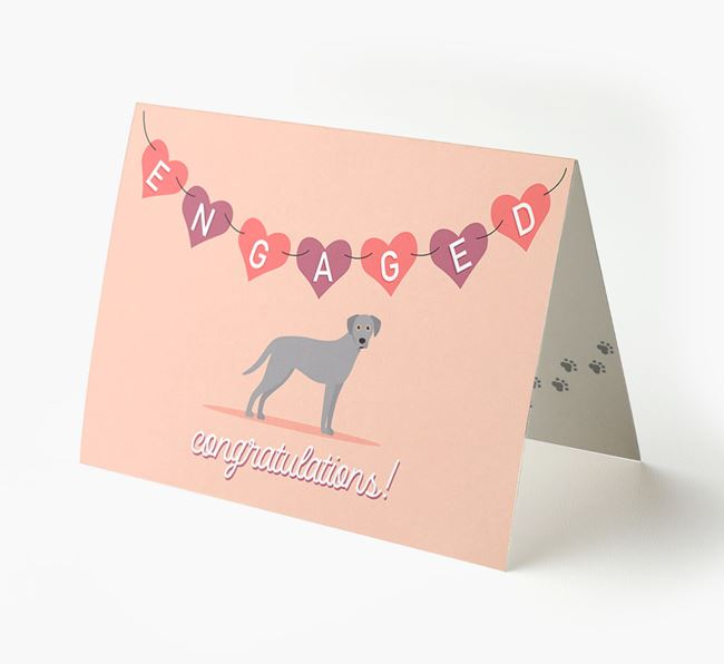 'Engaged' - Personalized Blue Lacy Card