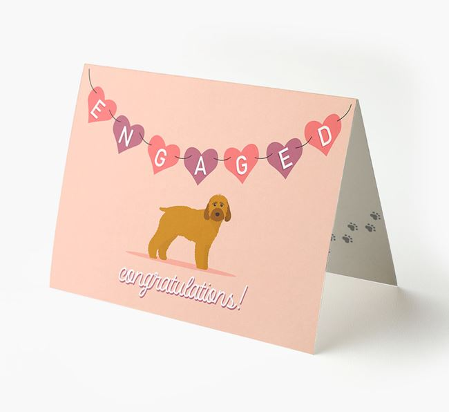 'Engaged' - Personalized Cockapoo Card