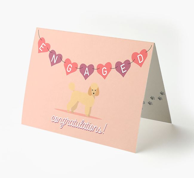 'Engaged' - Personalized Miniature Poodle Card