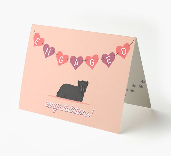 'Engaged' - Personalized Skye Terrier Card