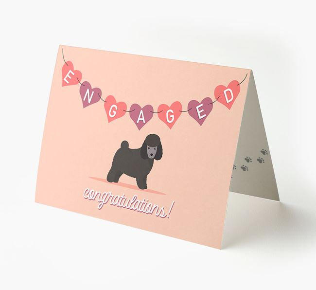'Engaged' - Personalized Toy Poodle Card