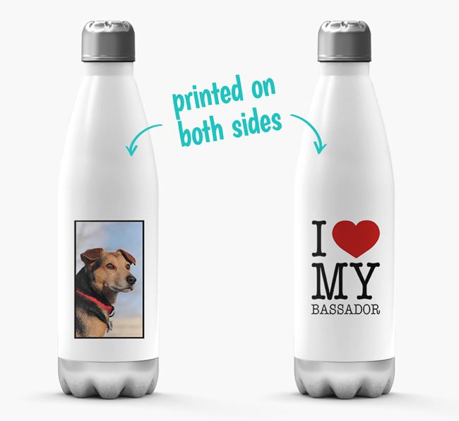 'I Love My Bassador ' Personalized Water Bottle