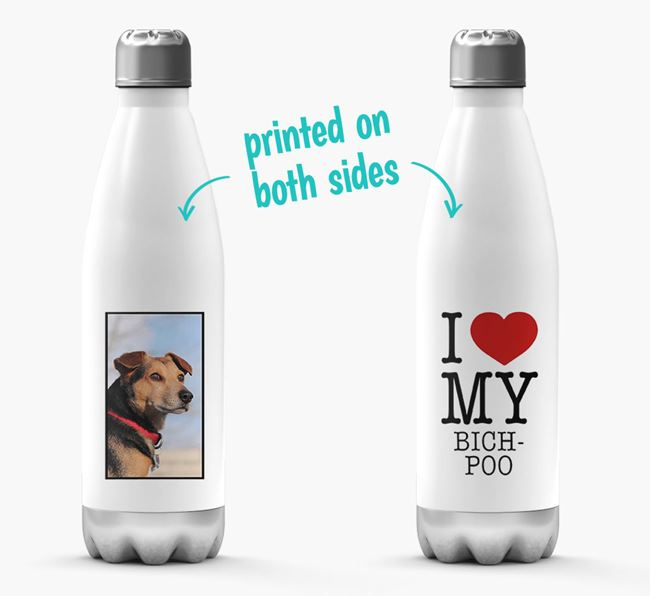 'I Love My Bich-poo ' Personalized Water Bottle