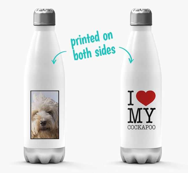 'I Love My Cockapoo ' Personalized Water Bottle