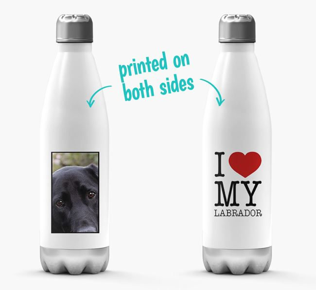 'I Love My Dog ' Personalized Water Bottle
