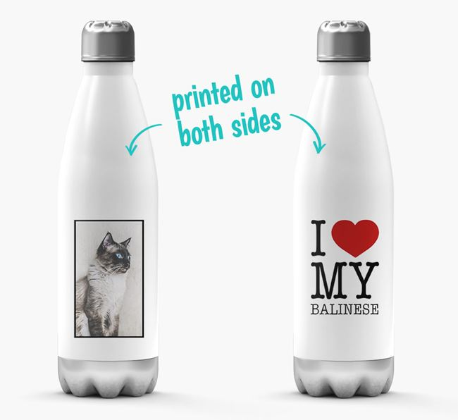 'I Love My Balinese ' Personalized Water Bottle