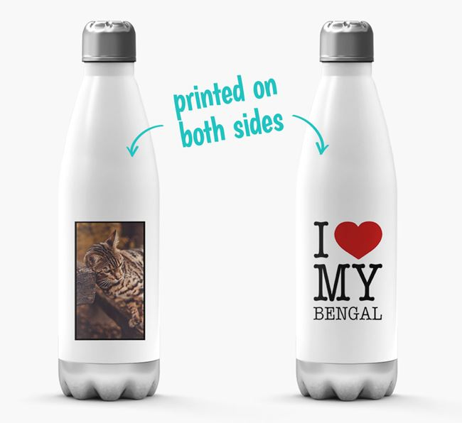 'I Love My Bengal ' Personalized Water Bottle