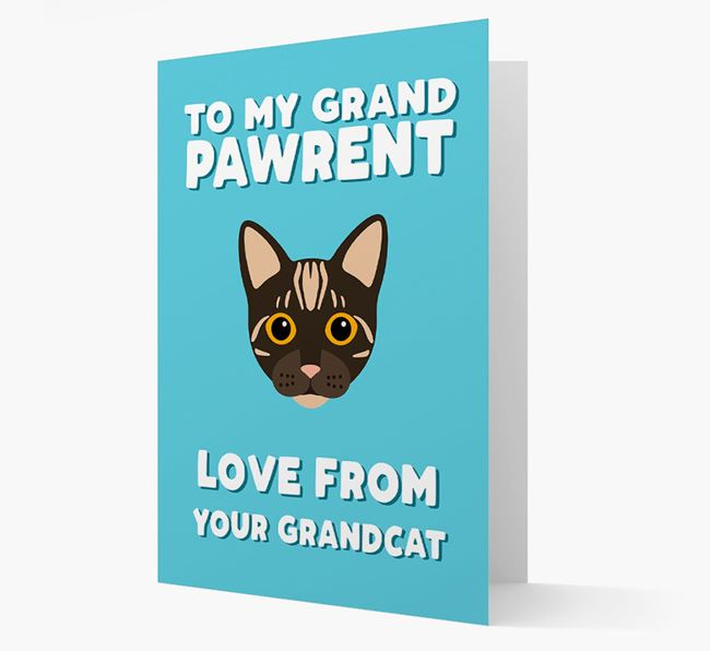 'To My Grandpawrent' - Personalized Bengal Card